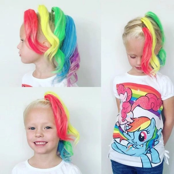 colorful 9 & 10 year old girl hairstyles