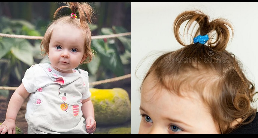 baby girl's first hairstyle