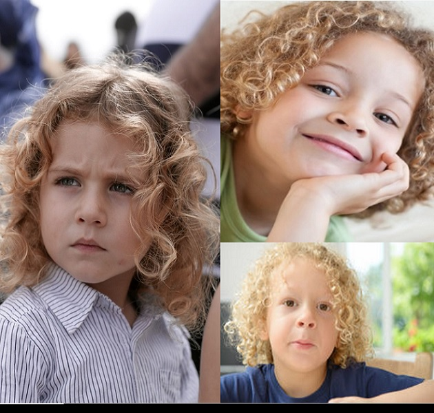 little boy's hairstyle with long blonde curls