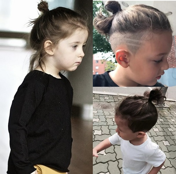 bun hairstyles for little boys with long hair