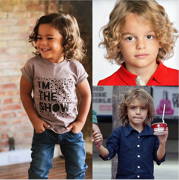 Thin long Curls for toddler boys