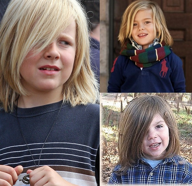 blonde with long fringe for little boys
