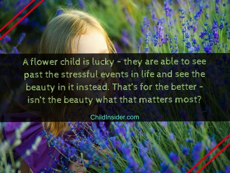 quotes on flower child