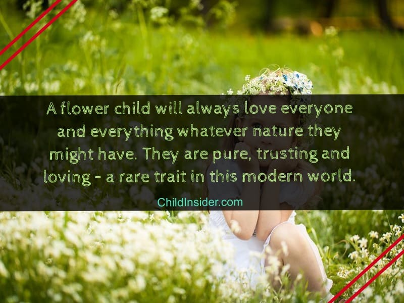 quotes about flower child