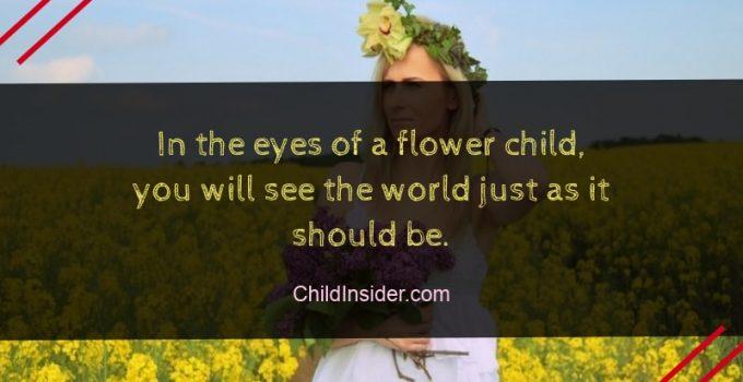 flower child quote