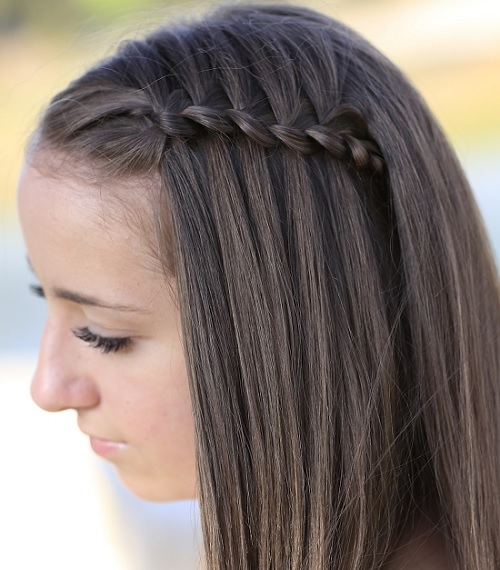 braided hairstyle for 12 year old girl