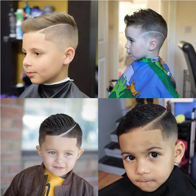 baby boy haircut with line up