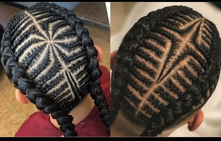 little boy hairstyle with side braid