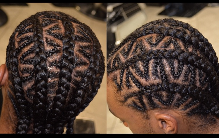 zig zag braids for little boy