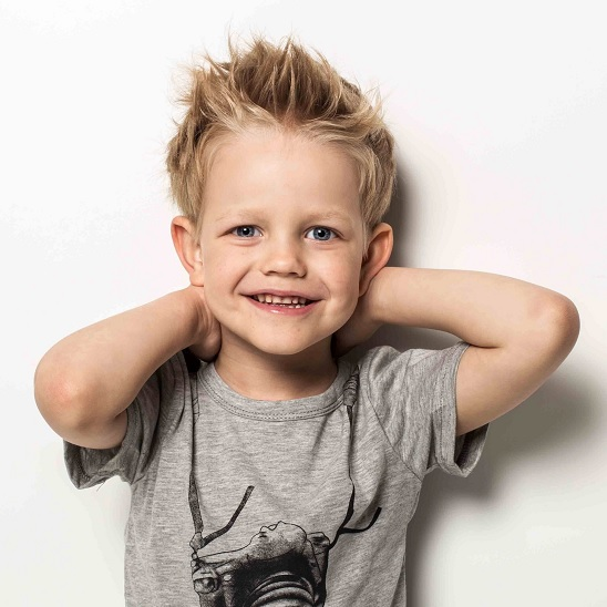 carefree fohawk hairstyle for little boy