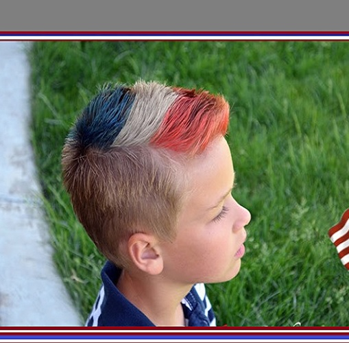 Dyed Fohawks for Little Boys