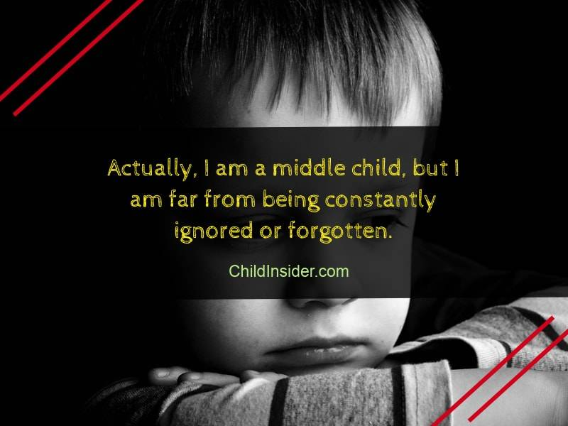 sad middle child sayings