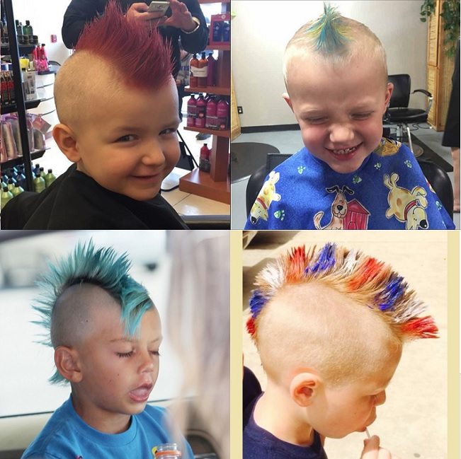 colorful mohawk hairstyles for little boys