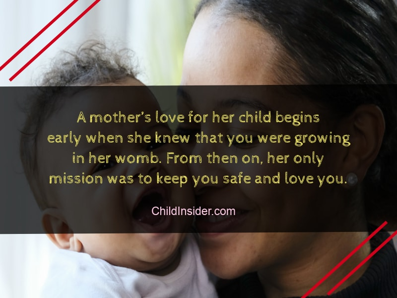 quote about mother's love for child