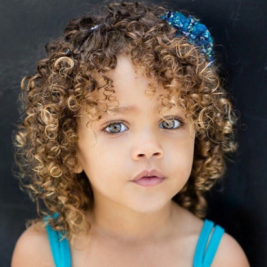 hairstyle for toddler girl with curly hair