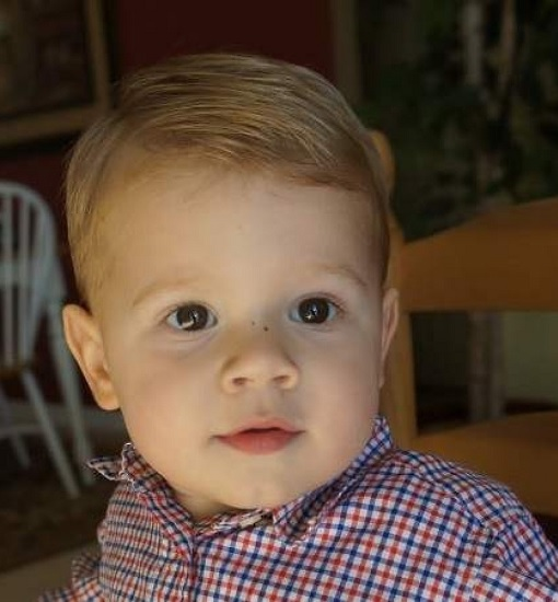 toddler haircut with combed side for thin hair