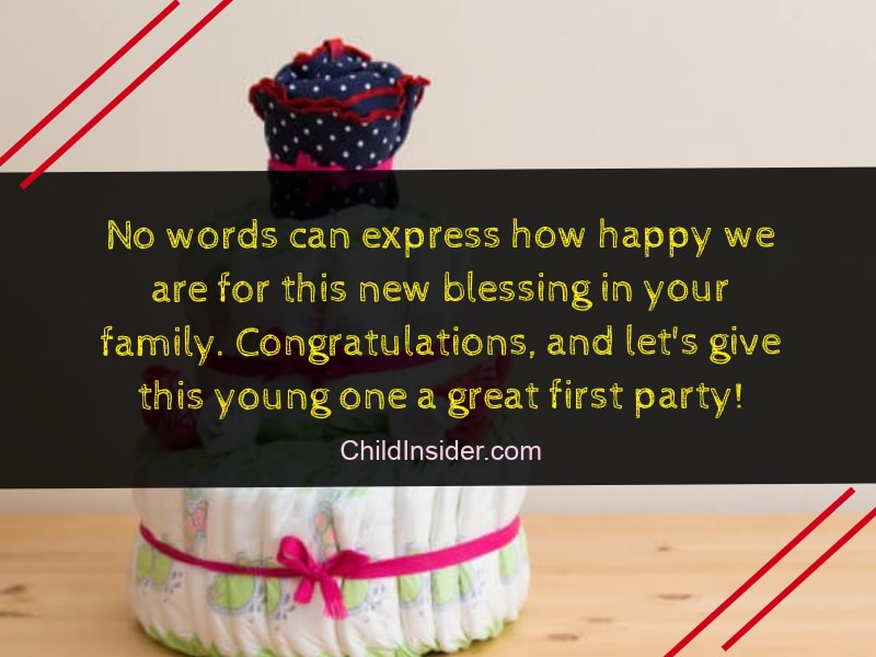 words of congratulations for new baby
