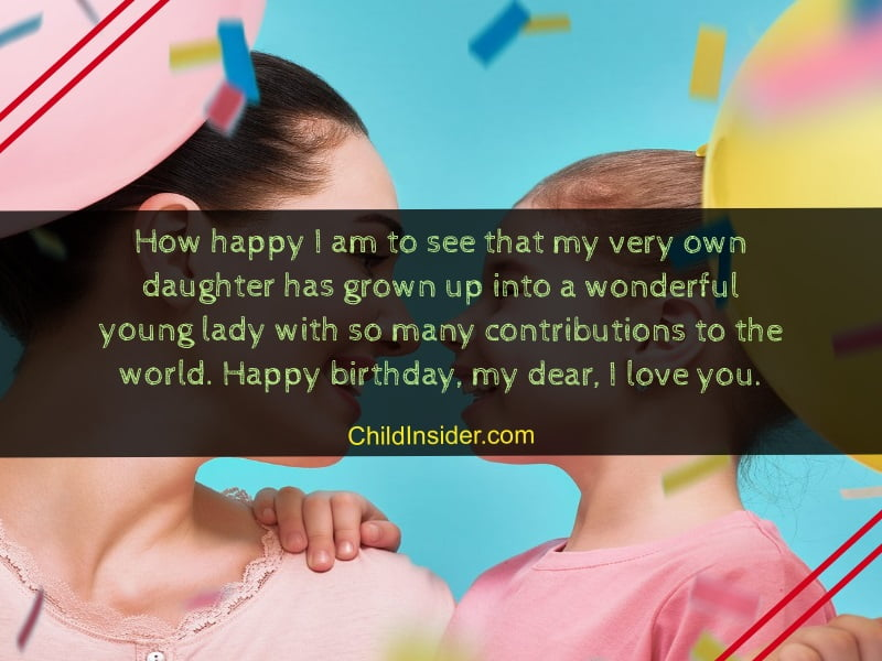 60 Best Birthday Messages To Wish Your Daughter As Mom Child Insider