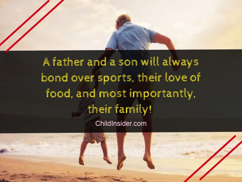 quotes for father son bonding