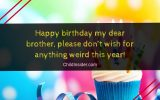 funny birthday wishes for younger brother from sister