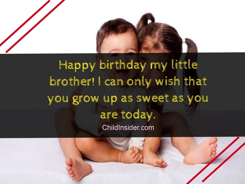 40 Funny Birthday Wishes for Younger Brother from Sister ...