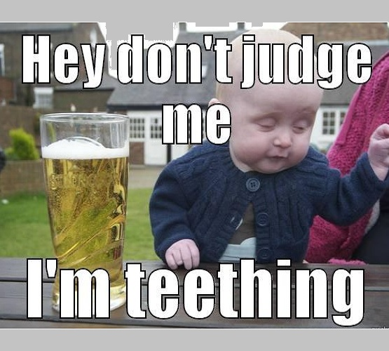 best memes for your teething baby
