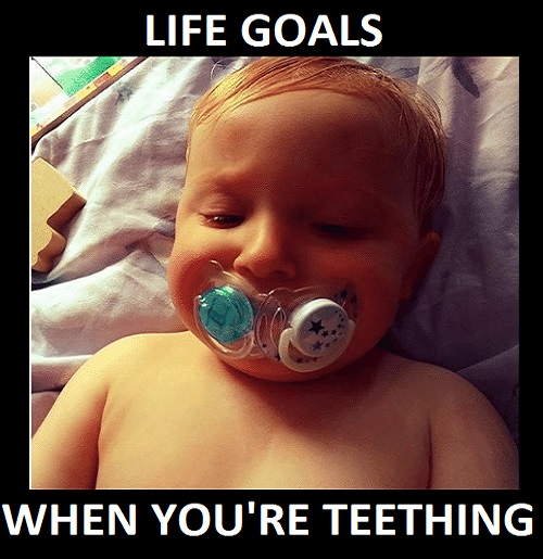 adorable teething baby memes