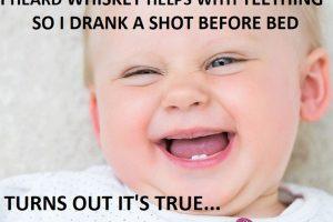 teething baby memes