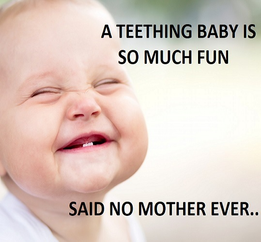 teething baby memes to share