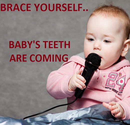 memes about baby teething