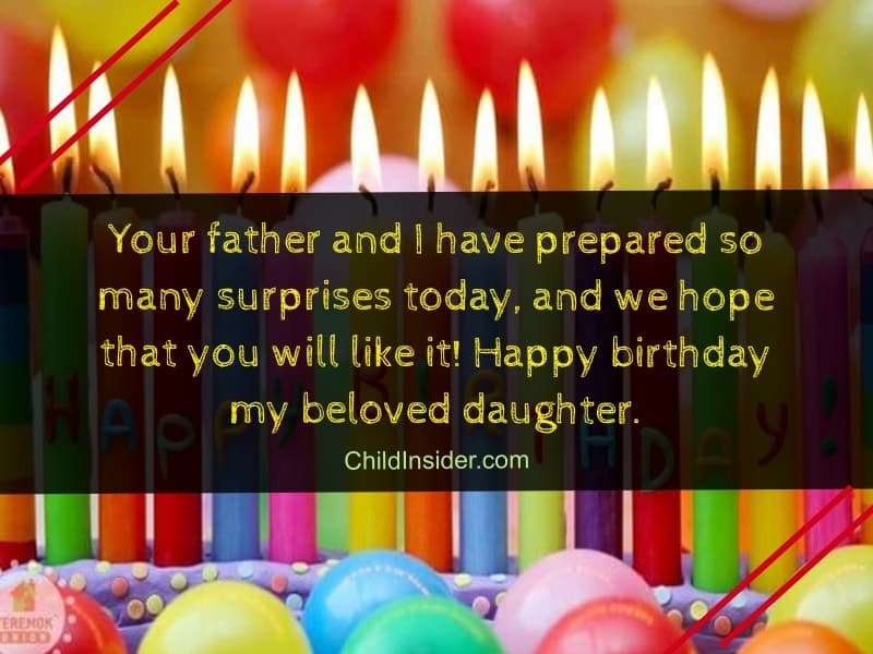 wishes about birthday of your step daughter