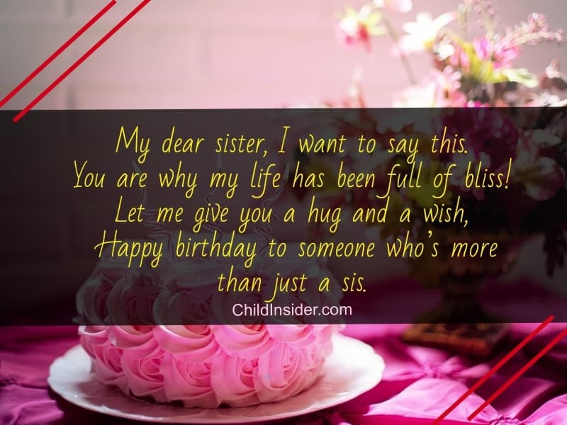 80 Beautiful Birthday Wishes For Sister To Remember Always