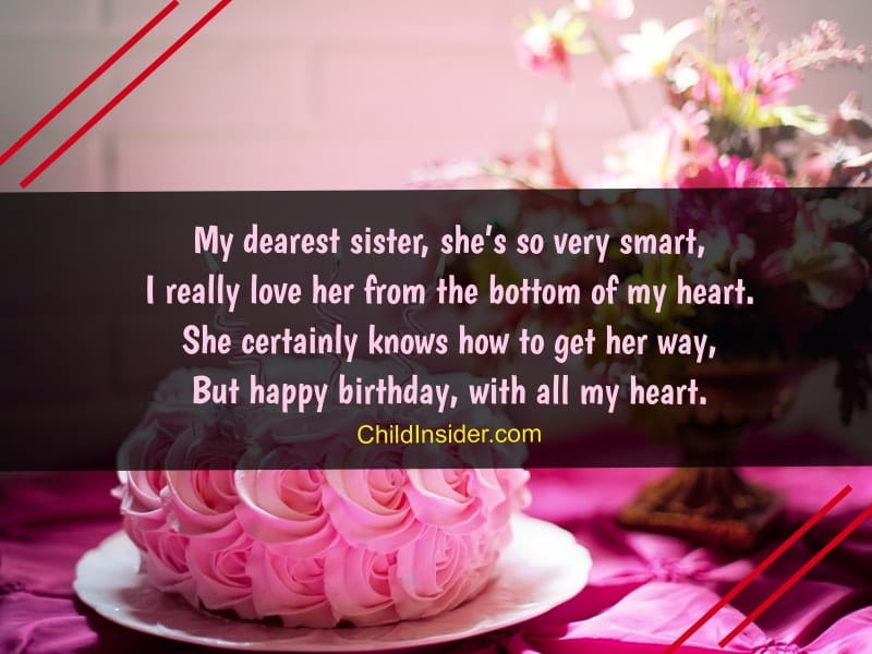 sisters birthday wish message