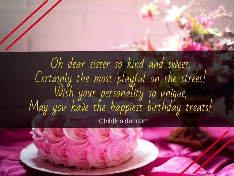 sweet birthday poems for a sister
