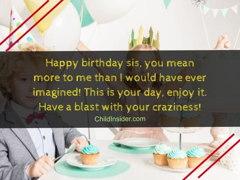 adorable birthday wishes for sister
