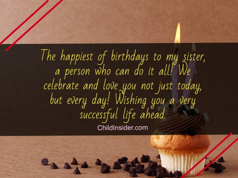 birthday wishes for your lovely sister