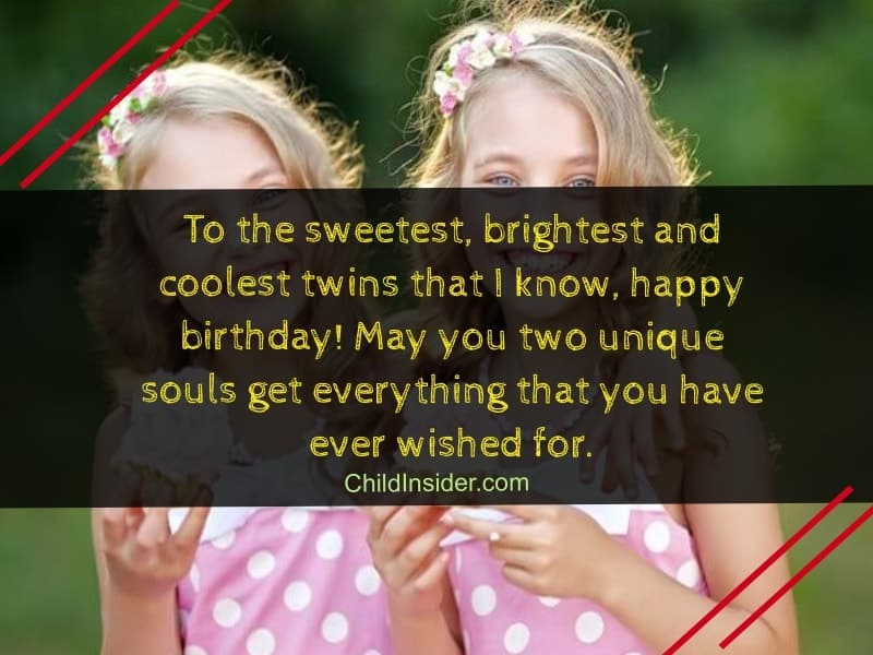 Sweet Birthday Wishes For Twin Sisters