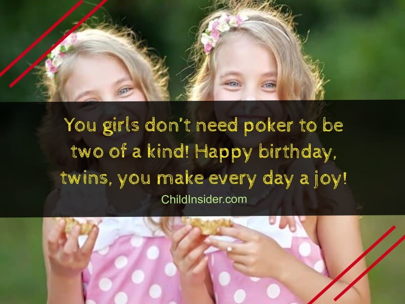 birthday wishes for twin girls