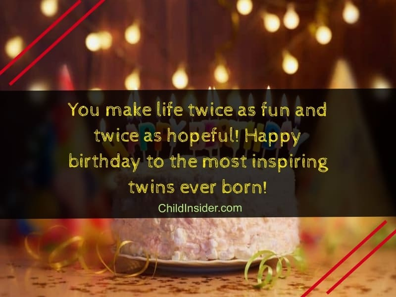 birthday wish for twins that inspires you
