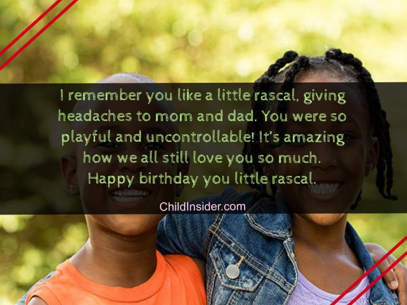 birthday wishes for younger brother from sister