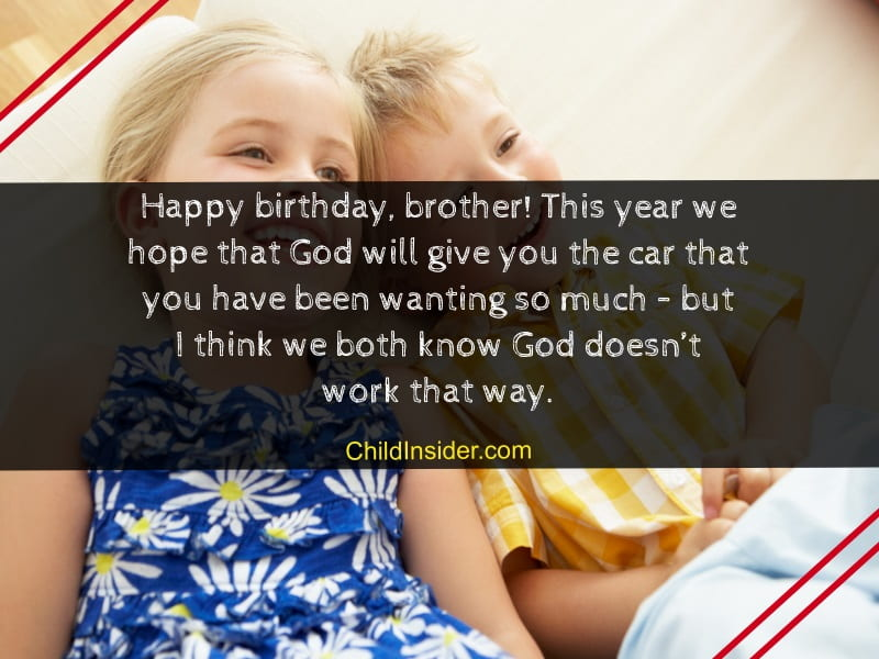 birthday messages for younger brother from sister