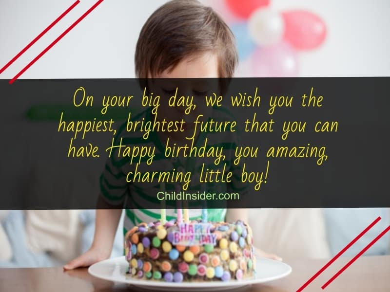 adorable birthday wishes for your little boy