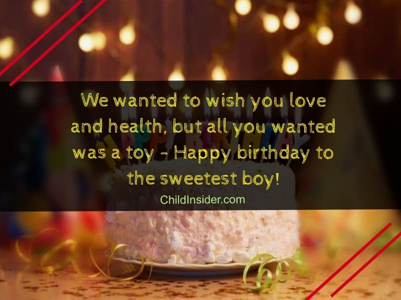 Sweet Birthday Wishes For Little Boy