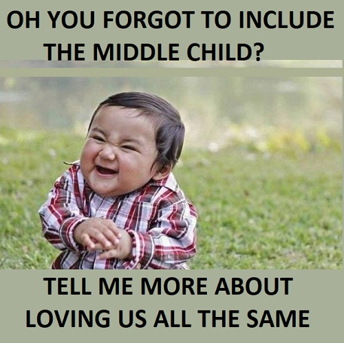 funny middle child memes