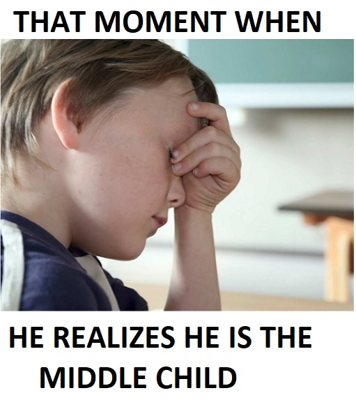 funny memes for middle child