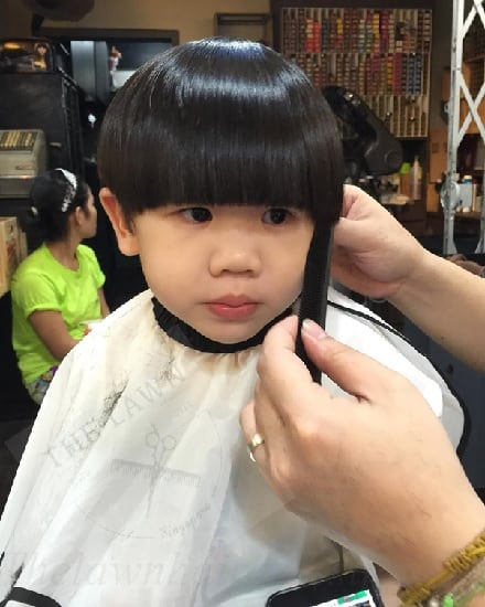 bowl hair cut for indian babies