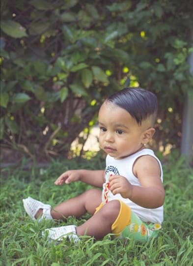 indian baby ounk rock haircut
