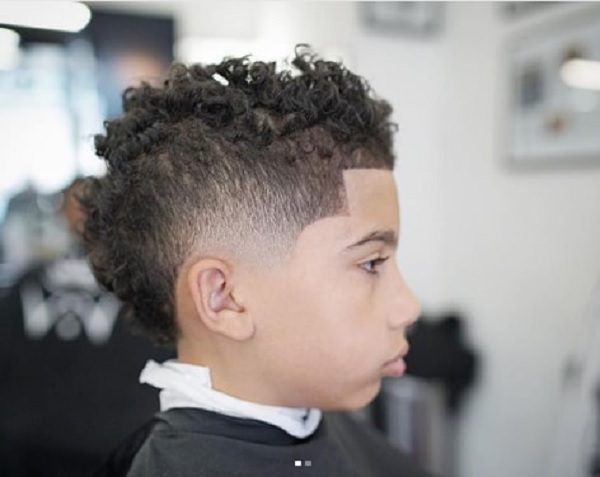 toddler boy's tapered haircut