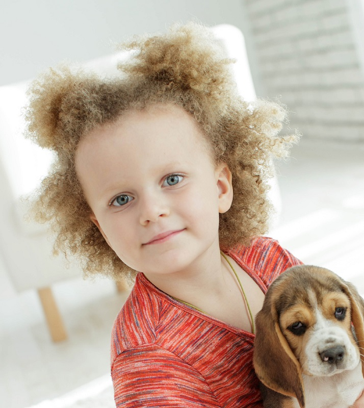 toddler girl with curly hair