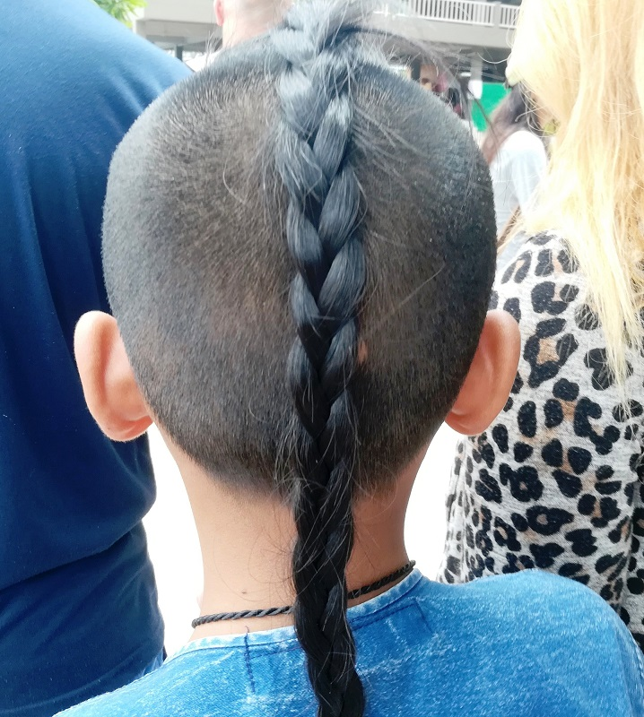 long braid for little boys